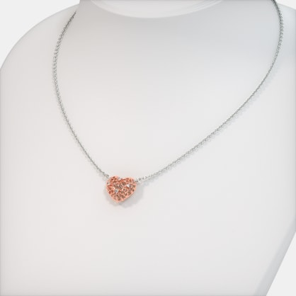 The Rosette Heart Necklace