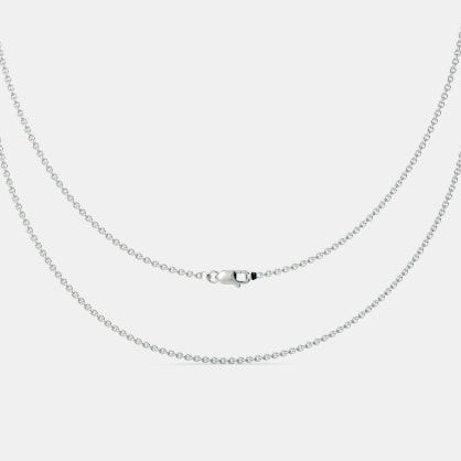 The White Gold Cable Chain