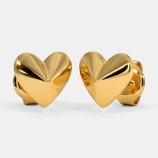 The Facet Heart Kids Stud Earrings
