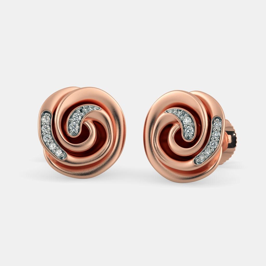 The Rosette Stud Earrings