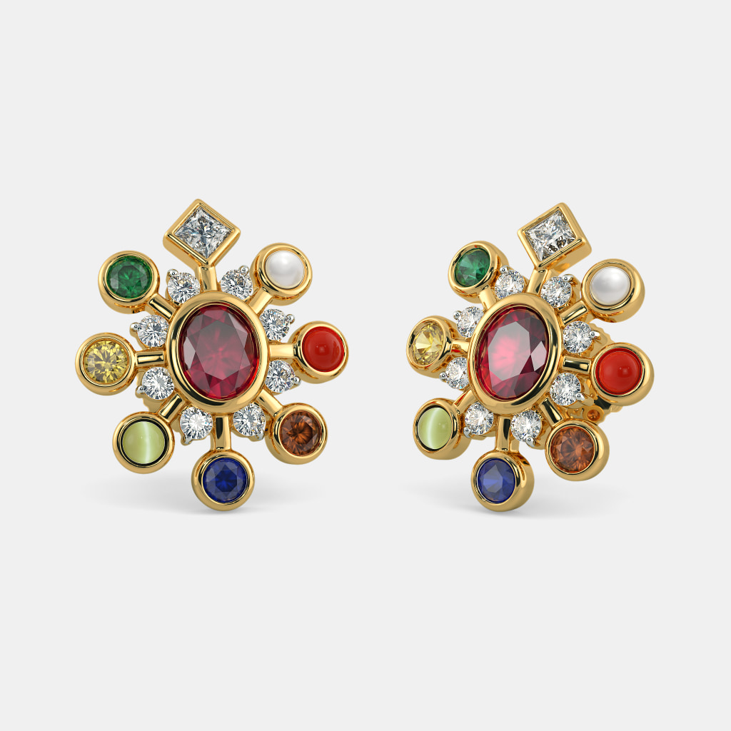 a68cf18ad The Naveen Darpan Earrings | BlueStone.com