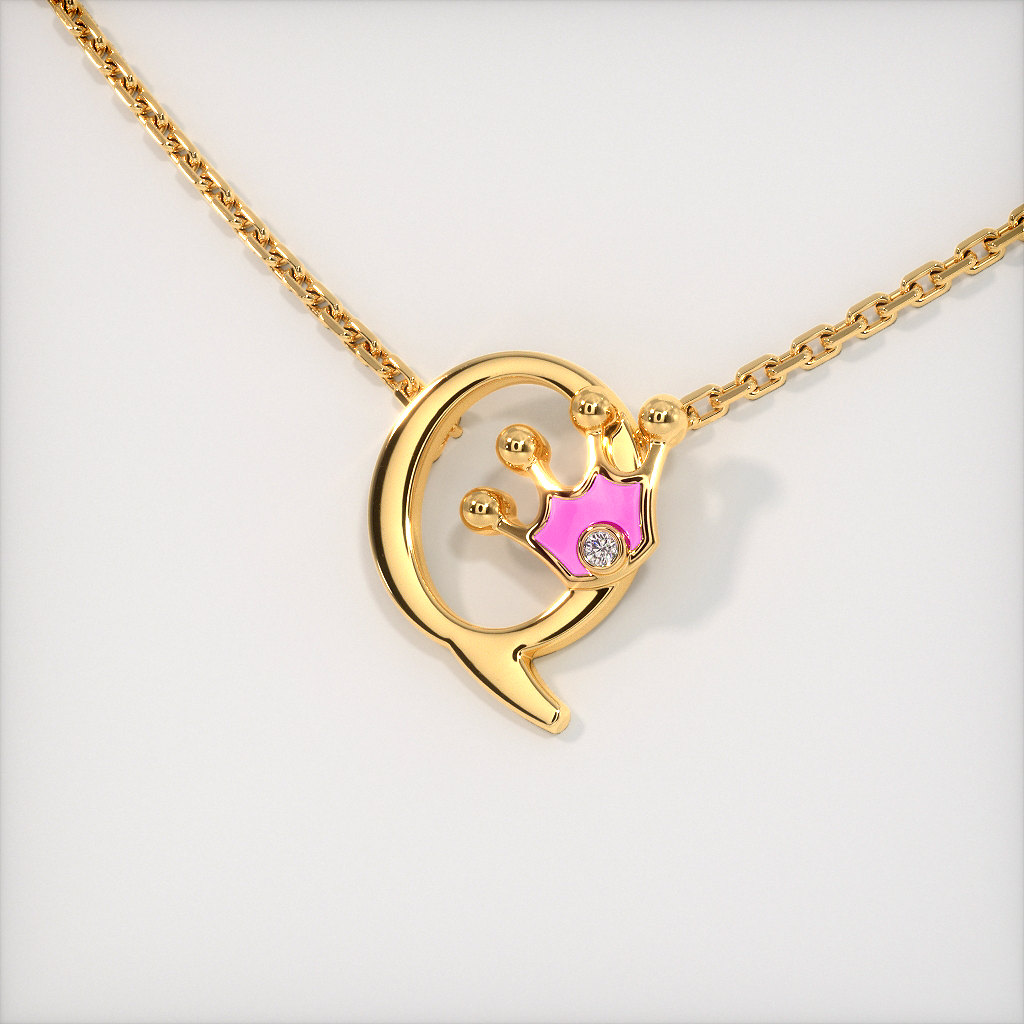 The Q for Queen Necklace for Kids