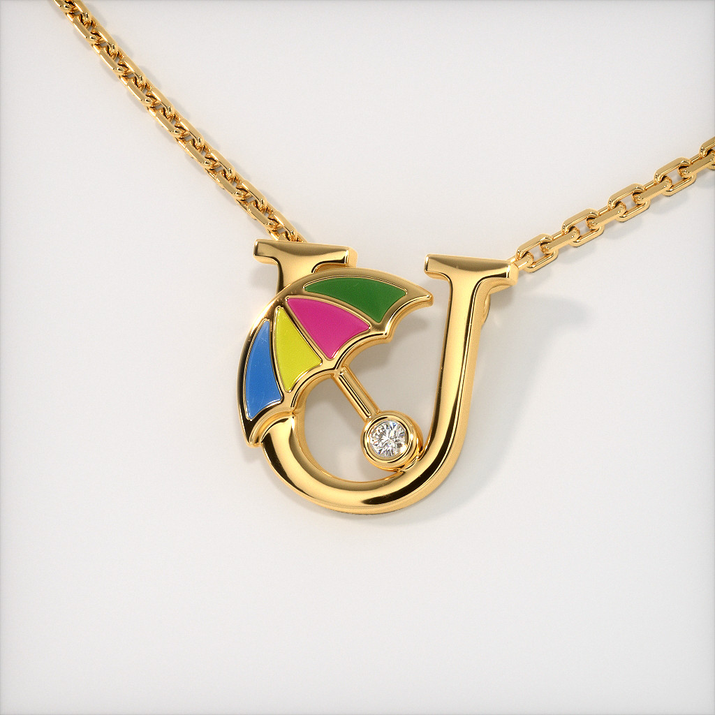 The U for Umbrella Necklace for Kids
