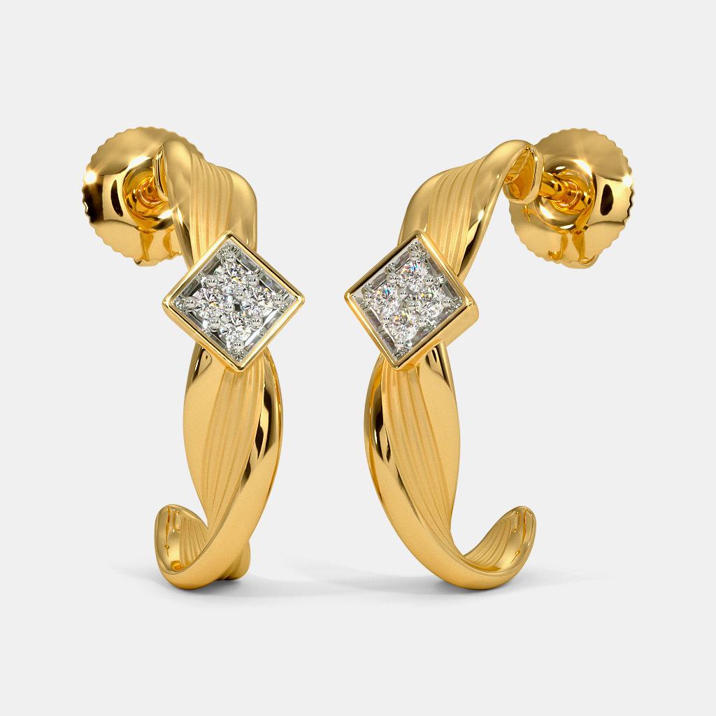 The Almasa J Hoop Earrings