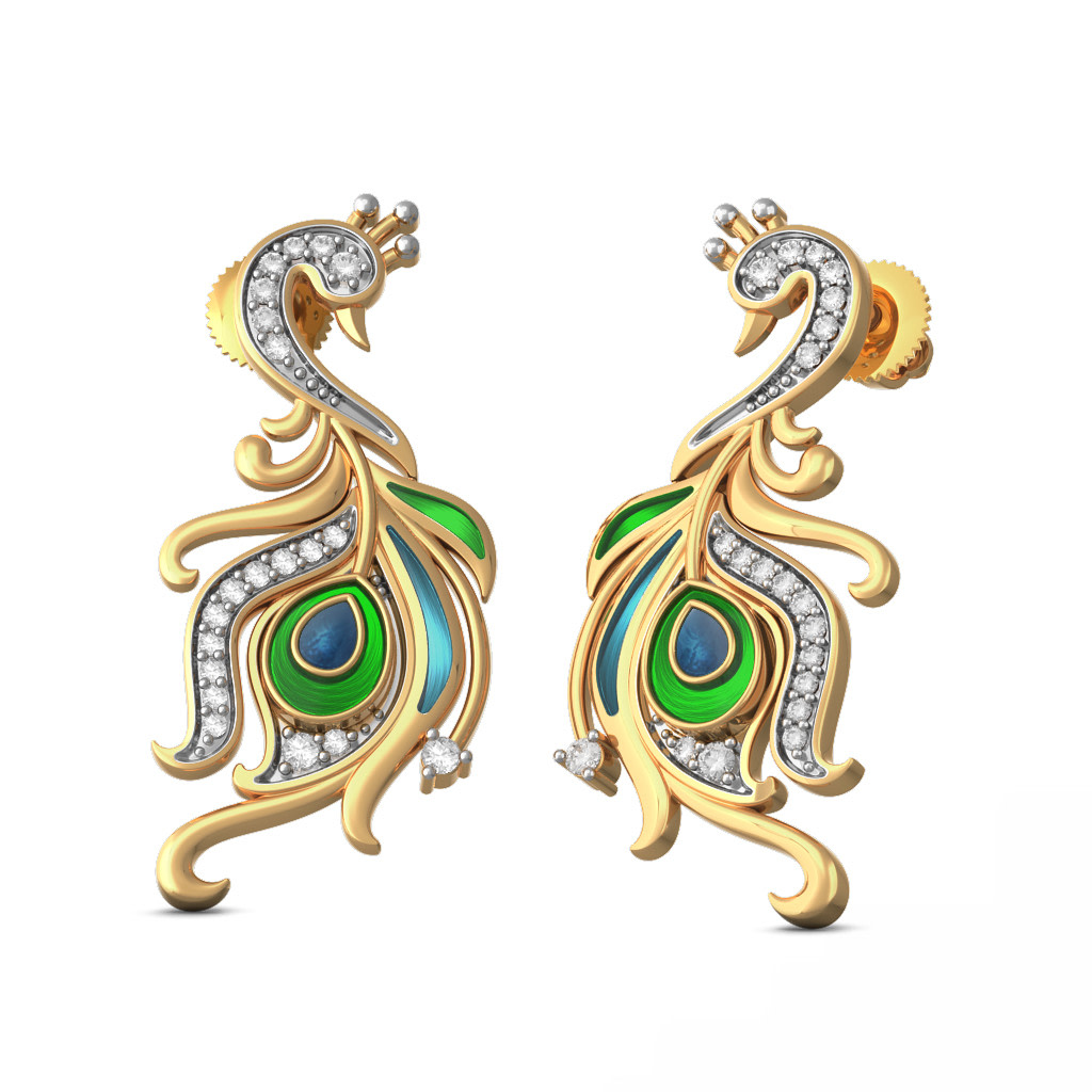 The Regal Feather Earrings