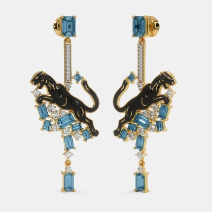 The Black Panther Drop Earrings