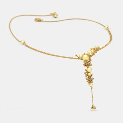 The Spring Plum Asymmetrical Necklace