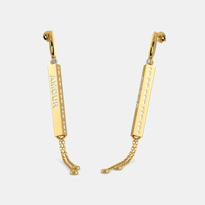 The Morse Code Love Earrings
