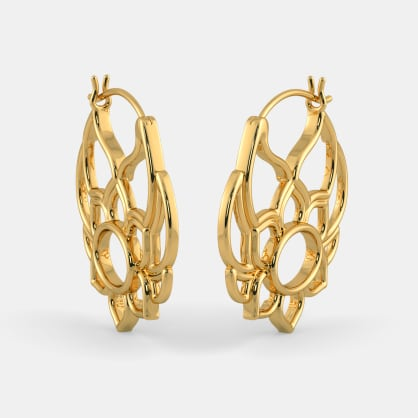 The Frivolous Flower Hoop Earrings
