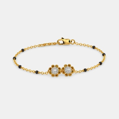 The Duo Floral Mangalsutra Bracelet