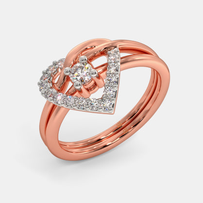 The Coupled Heart Stackable Ring