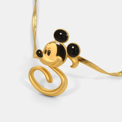 The S For Sweet Mickey Pendant For Kids