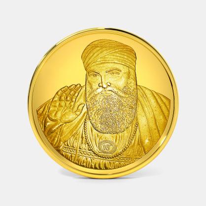 10 gram 24 KT Guru Nanak Ji Gold Coin