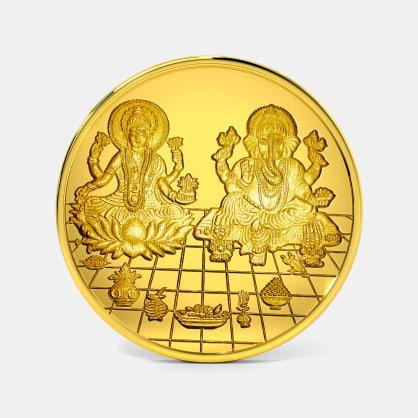 20 gram 24 KT Lakshmi Ganesh Gold Coin