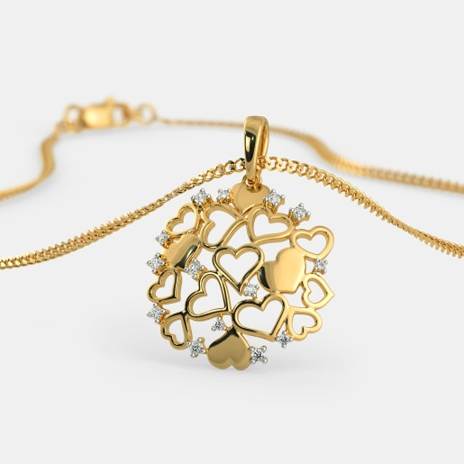 Stylised Gold Heart With Pearl Beautiful Buy Now Fashion Jewelry