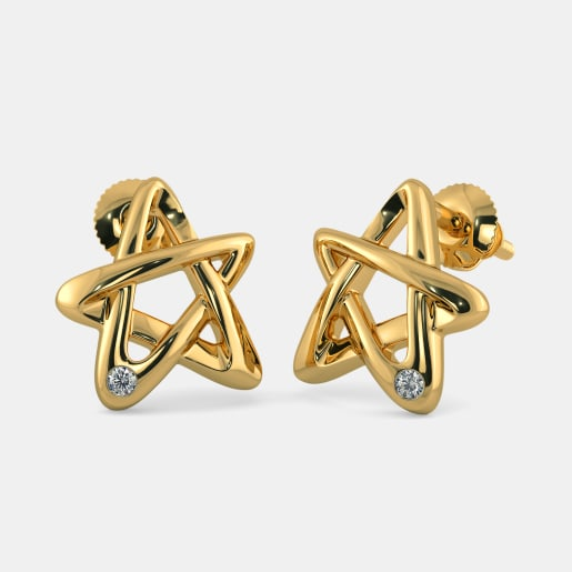 The 5 Point Star Stud Earrings