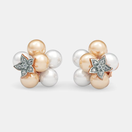 The Pearl Cloud Stud Earrings