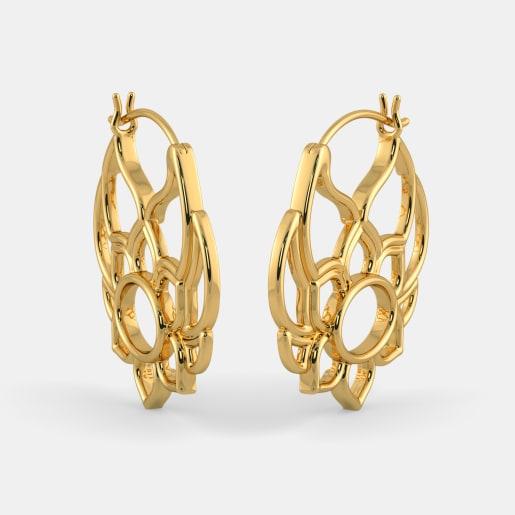 The Frivolous Flower Hoop Earrings