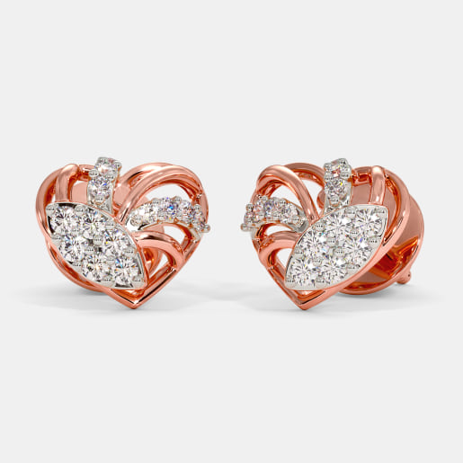 The Radiance Heart Stud Earrings
