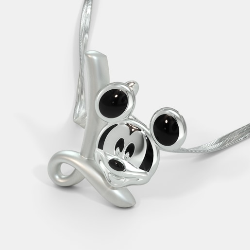 The L For Lovable Mickey Pendant For Kids
